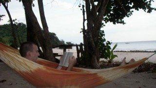 hammock reading - thebarefootnomad.com