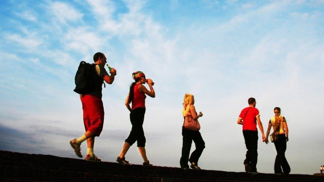 healthy backpackers