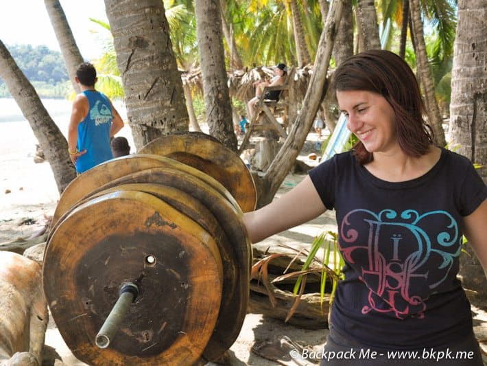At a jungle gym in Costa Rica