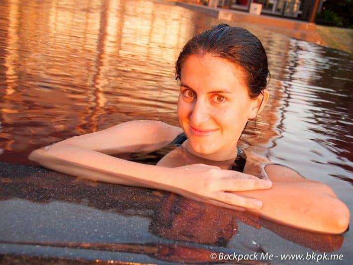 Zara swimming in Thailand