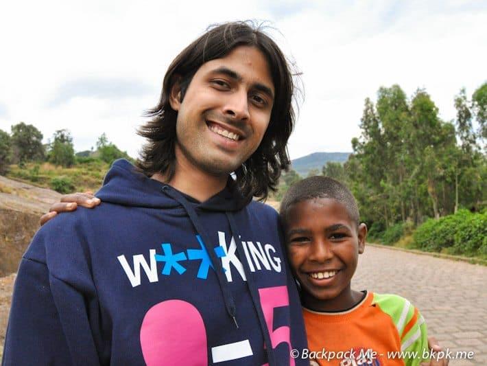 Making friends in Ethiopia
