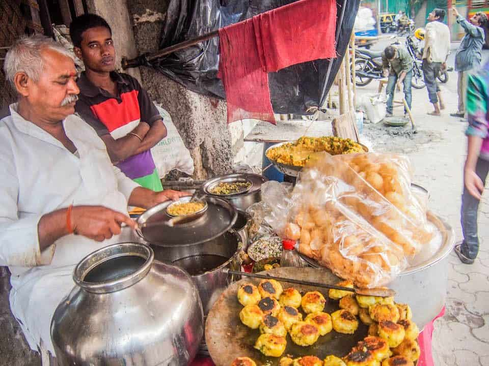Street food stall in Mumbai