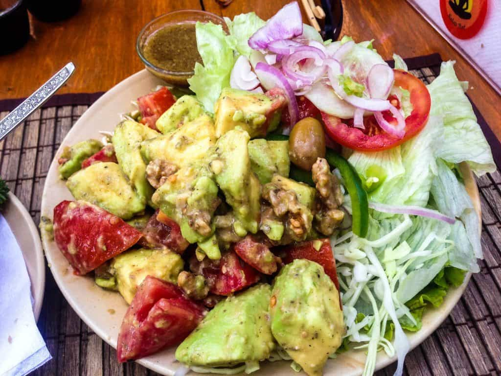 Avocado salad (comes with bread)