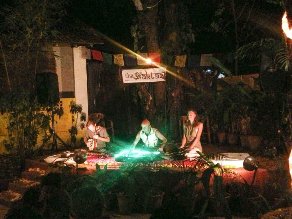 The Bhaktas performing at Bean Me Up