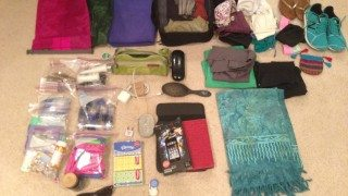 Everything that went inside my backpack