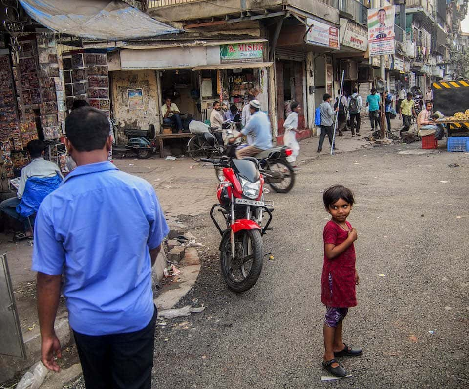 small child in Mumbai