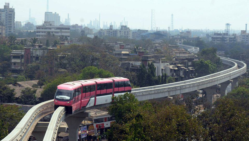 Mumbai's new monorail - opened in Feb 2014