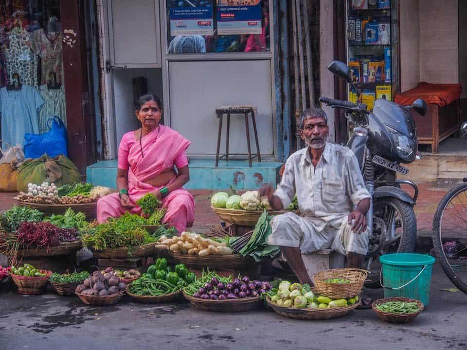 Vegetable street vendors in Mumbai