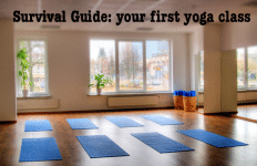 survival guide - your first yoga class