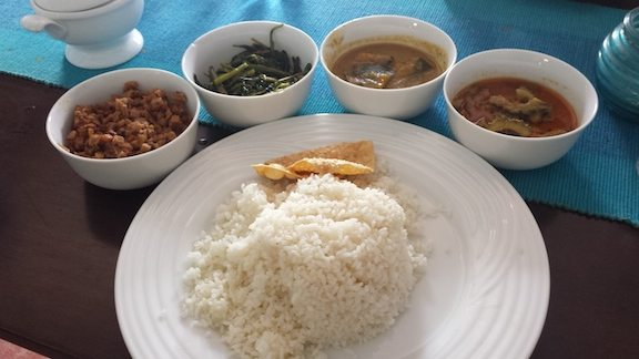 Pumpkin Curry (2nd bowl from the right)