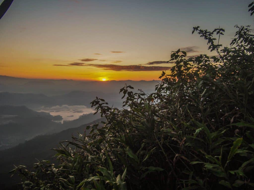 Sunrise from Adam's Peak (near the top)