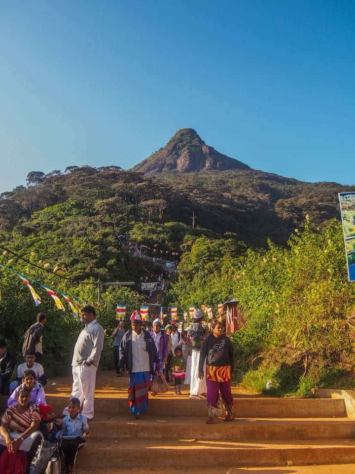 Adam's Peak from the base of the climb