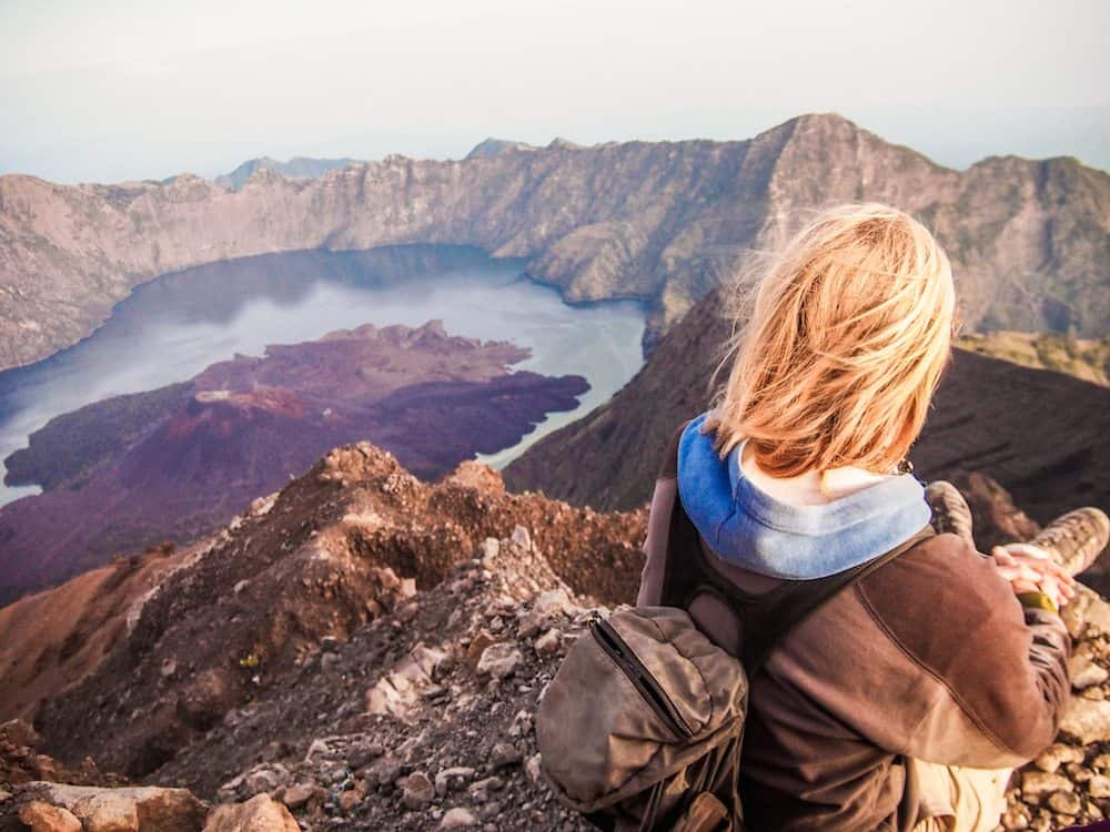 view from Rinjani Summit