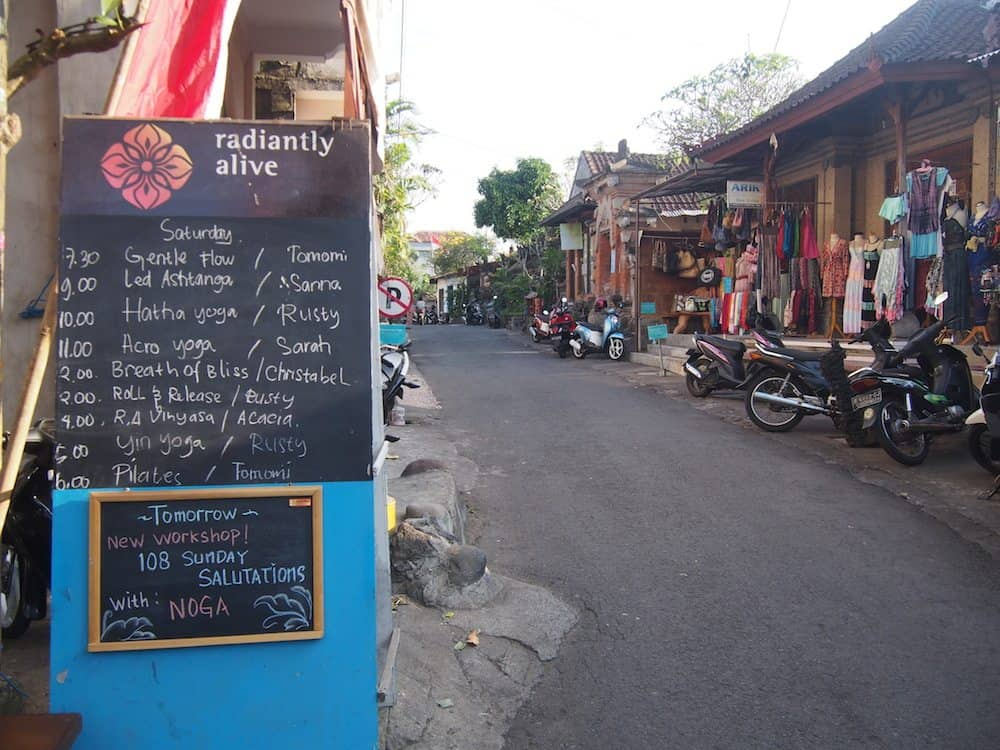 Radiantly alive yoga ubud