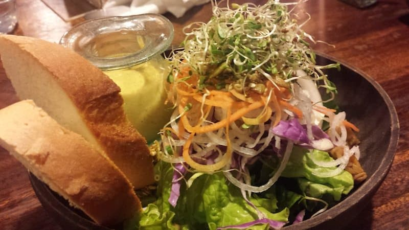 One of the many salads at Garden Kafe