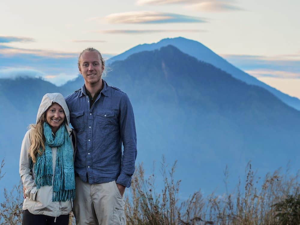 Summit of mt batur on Bali