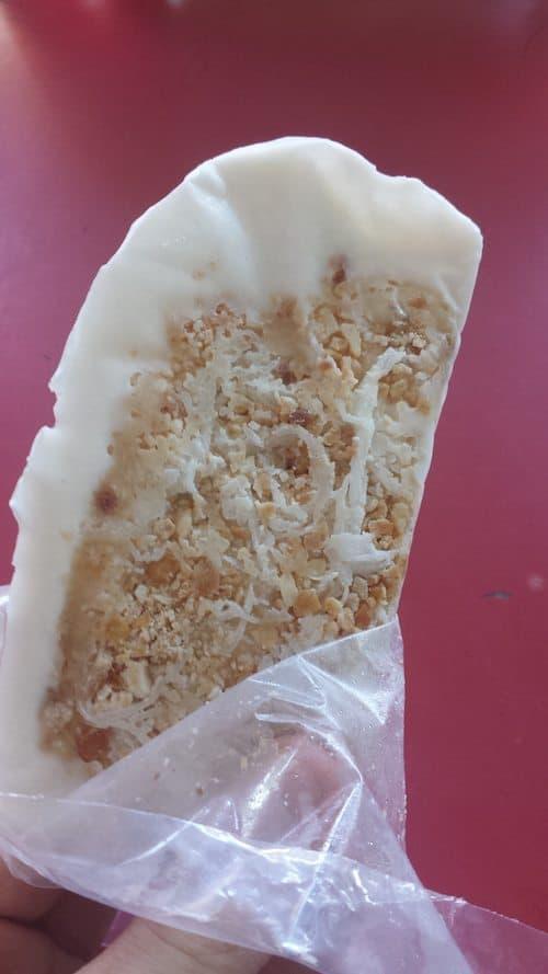 local dessert - coconut, ice cream, peanut