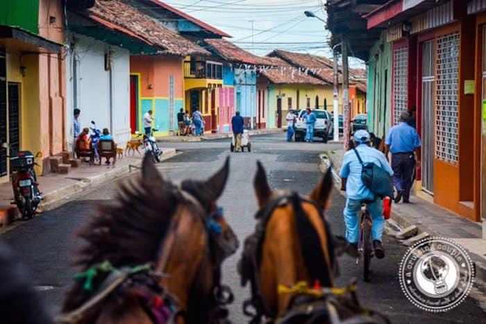 Horse carrage tour - granada, nicaragua