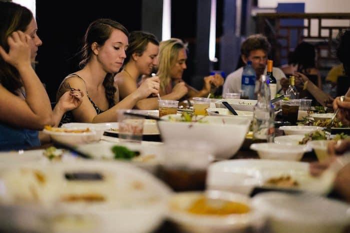 family dinner at hulakai hotel - playa maderas