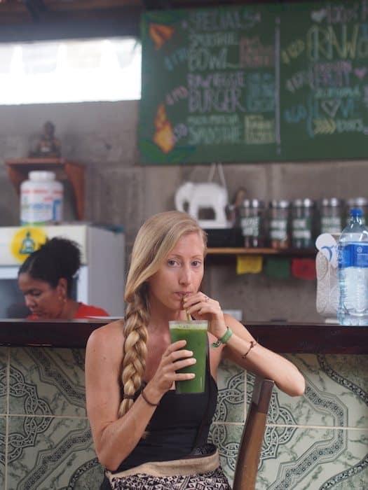 smoothie at zen yoga buddha garden restaurant