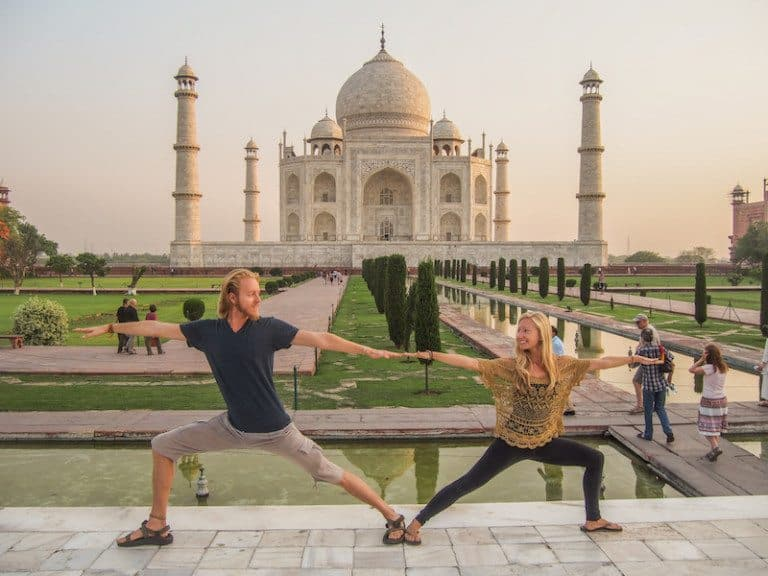 Double-warrior-post-yoga-Taj-Mahal-india-agra