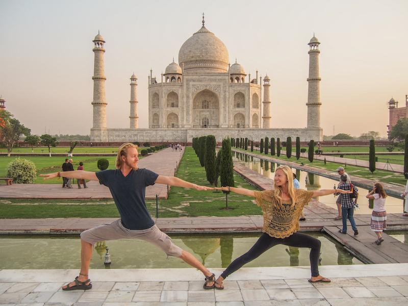Double-warrior-post-yoga-Taj-Mahal-india-agra