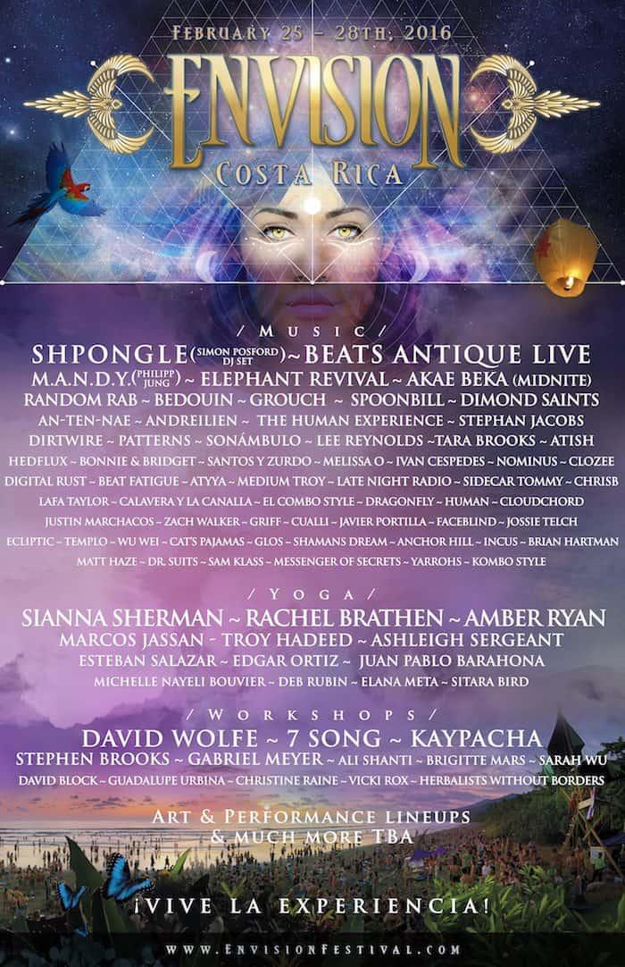 Envision Festival Costa Rica Lineup 2016