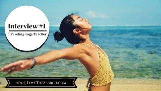 Traveling yoga teacher interview - Adi Love the Search