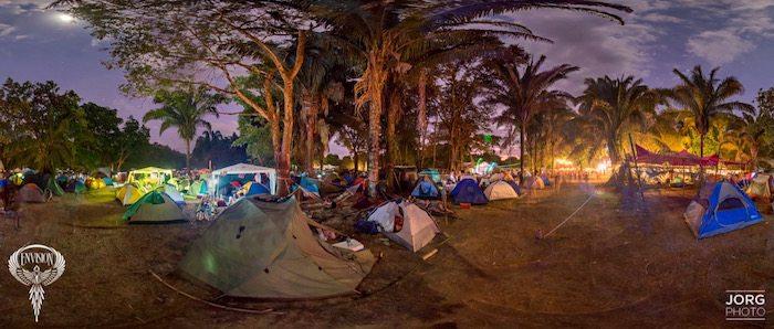 camping setup at envision festival