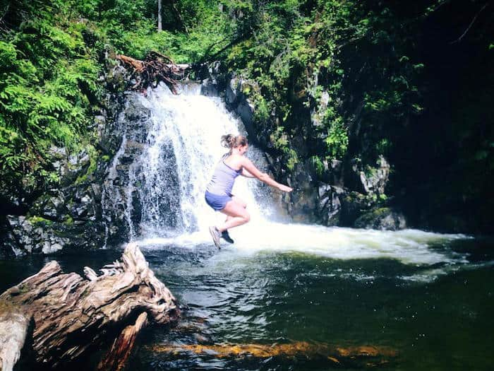Ellen-do-yoga-in-your-park-waterfall