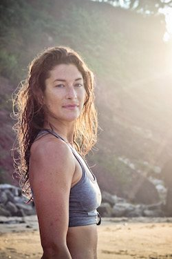lucy foster perkins teaches yoga for surfers