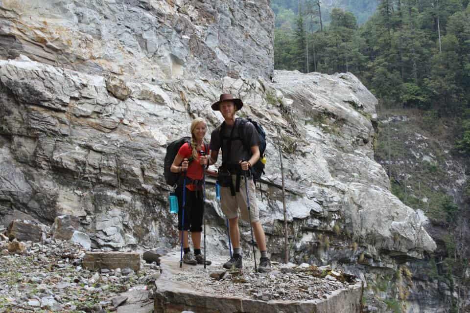 Trekking through the Himalayas