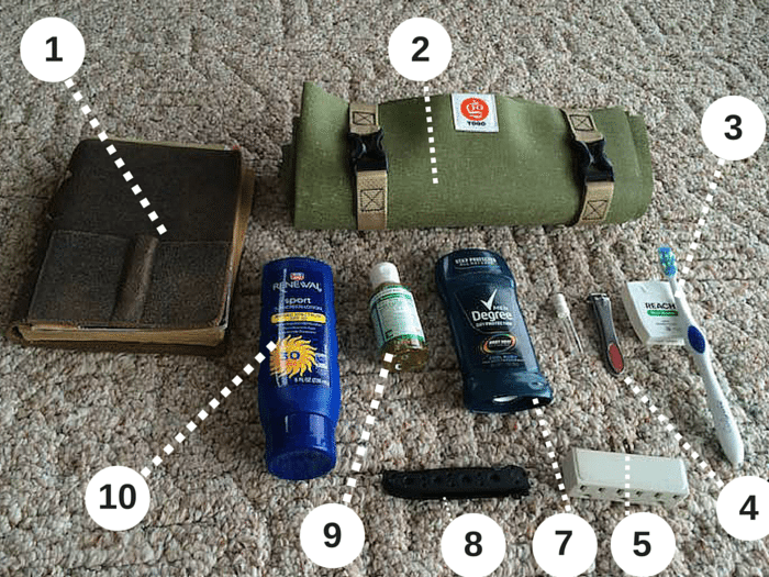 accessories for travel packing list