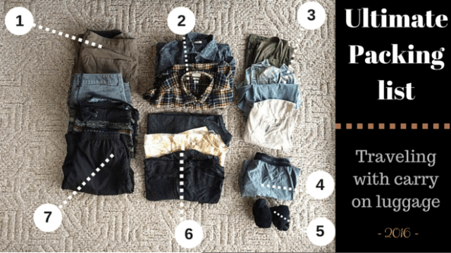 ae22e96724 Digital Nomad Packing List: Everything You Need to Travel in 2017 ...