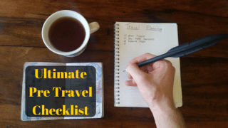 Pre travel checklist - travel planning guide