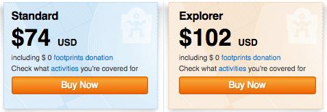 World Nomads travel insurance - Standard vs Explorer