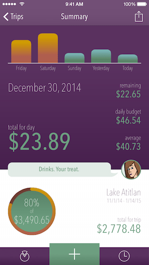 trail wallet budget app for travel