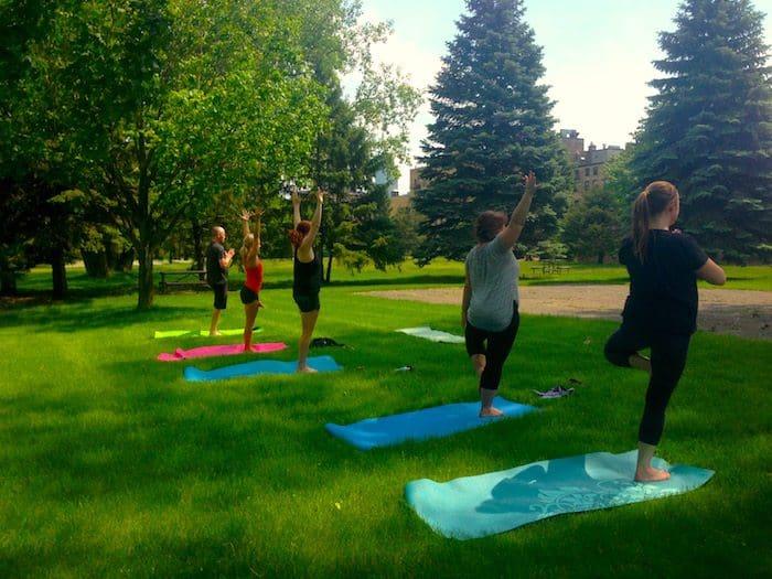 Practice teaching outdoors