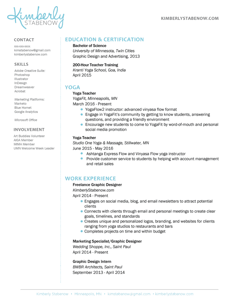 how to create the resume the