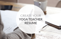 Create your yoga teacher resume