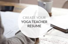 Create your yoga teacher resume