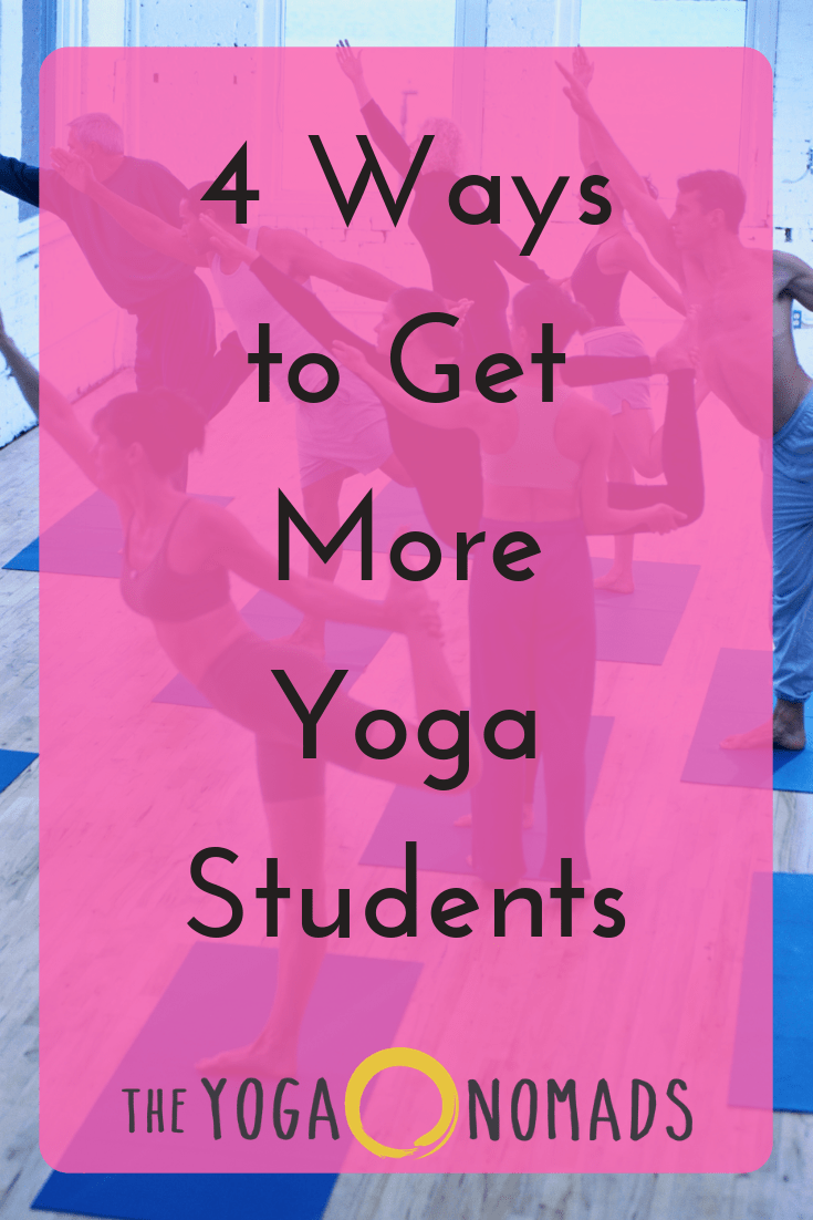 Ways in getting more Yoga Students