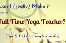 full time yoga teacher