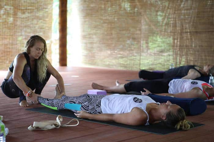 traveling yoga teacher