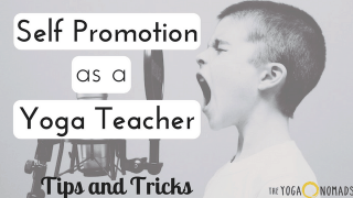 self promotion yoga teacher
