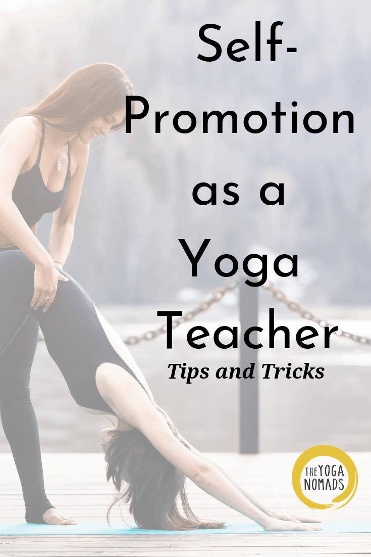 Self Promotion as a Yoga Teacher