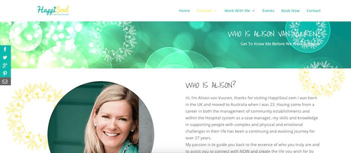 HappiSoul DIVI website