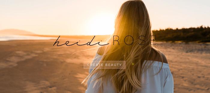Heidi Rose DIVI website
