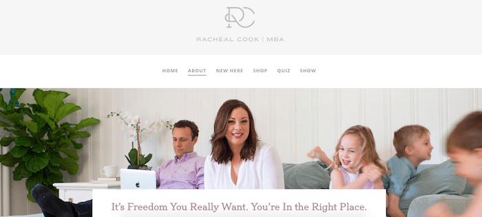 Racheal Cook DIVI website