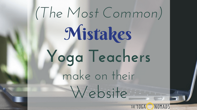 Yoga Website Mistakes